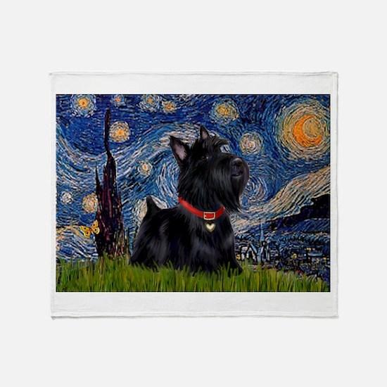 Starry / Scotty(bl) Throw Blanket