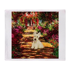 Path / Scottie (w) Throw Blanket