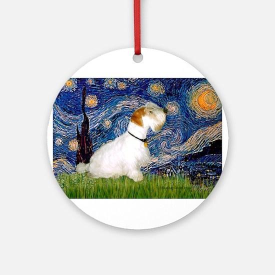 Starry Night/Sealyham L1 Ornament (Round)