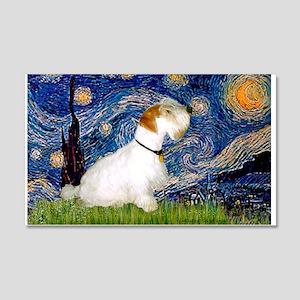 Starry Night/Sealyham L1 20x12 Wall Decal