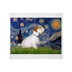 Starry Night/Sealyham L1 Throw Blanket