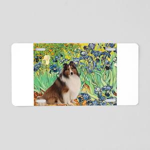 Irises / Sheltie Aluminum License Plate