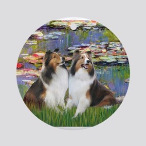 Lilies #2 / Two Shelties Ornament (Round)