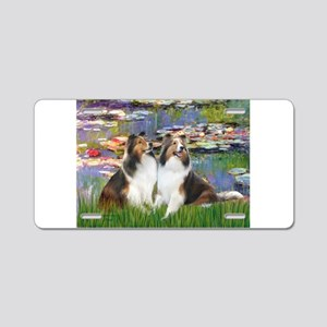 Lilies #2 / Two Shelties Aluminum License Plate