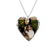 Mona Lisa / Sheltie (s&w) Necklace