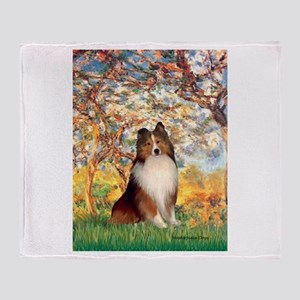 Spring / Sheltie (#1) Throw Blanket