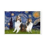 Starry / Two Shelties (D&L) 20x12 Wall Decal