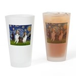 Starry / Two Shelties (D&L) Drinking Glass