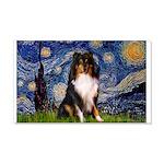 Starry Night / Sheltie (t) 20x12 Wall Decal