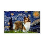Starry / Sheltie (s&w) 20x12 Wall Decal