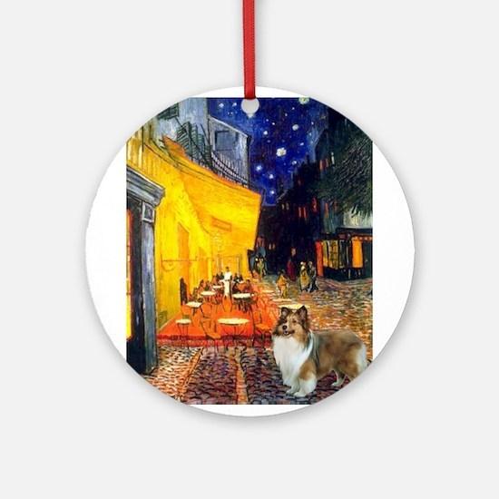 Cafe / Sheltie Ornament (Round)