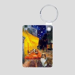 Cafe / Sheltie Aluminum Photo Keychain