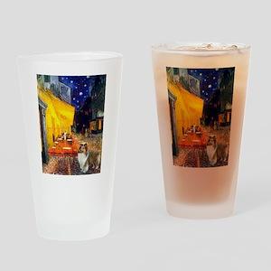Cafe / Sheltie Drinking Glass