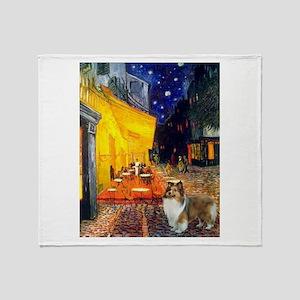 Cafe / Sheltie Throw Blanket