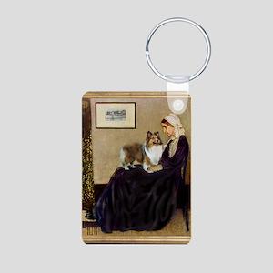 Whistler's / Sheltie Aluminum Photo Keychain