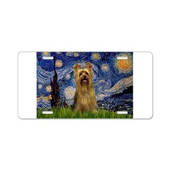Starry Night / Silky T Aluminum License Plate