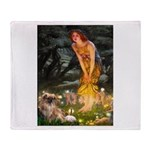 Fairies / Tibetan Spaniel Throw Blanket