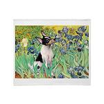 Irises / Toy Fox T Throw Blanket