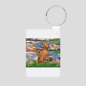 Lilies / Vizsla Aluminum Photo Keychain