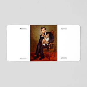 Lincoln's Corgi Aluminum License Plate