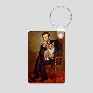 Lincoln's Corgi Aluminum Photo Keychain