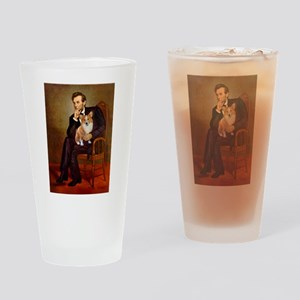 Lincoln's Corgi Drinking Glass