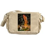 Fairies / Welsh Corgi Messenger Bag