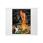 Fairies / Welsh Corgi Throw Blanket