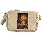 The Queen's Corgi Messenger Bag