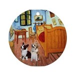 Room / Corgi pair Ornament (Round)