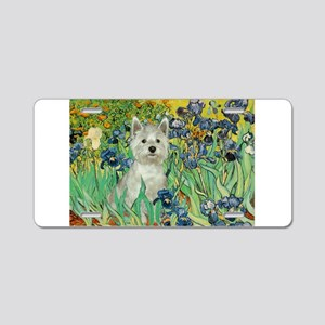 Irises / Westie Aluminum License Plate