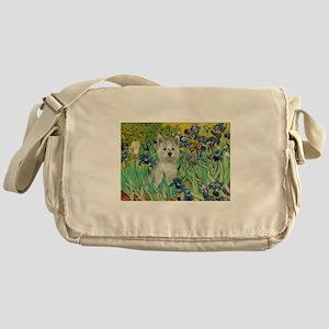 Irises / Westie Messenger Bag