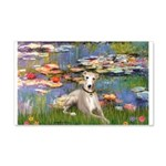 Lilies & Whippet 20x12 Wall Decal
