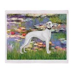 Lilies & Whippet Throw Blanket