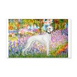 Whippet in Monet's Garden 20x12 Wall Decal