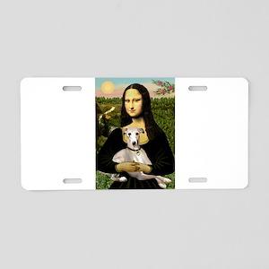 Mona & Whippet Aluminum License Plate