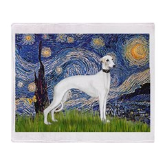 Starry Night / Whippet Throw Blanket