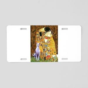 Kiss & Whippet Aluminum License Plate