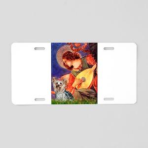 Mandolin Angel & Yorkie (T) Aluminum License Plate