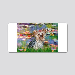 LILIES / Yorkie (T) Aluminum License Plate