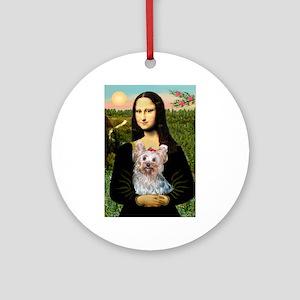 Mona & her Yorkie (T) Ornament (Round)