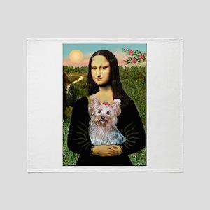 Mona & her Yorkie (T) Throw Blanket