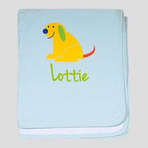 Lottie Loves Puppies baby blanket