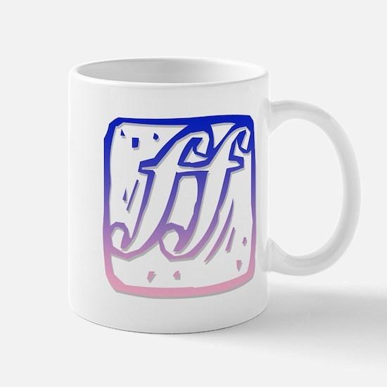 ff (loud music) Mug