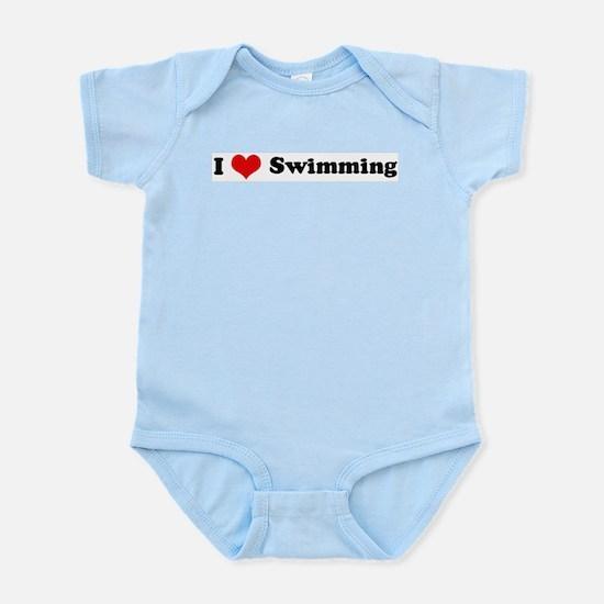 I Love Swimming Infant Creeper