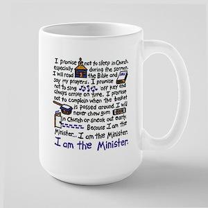 I'm the Minister Large Mug