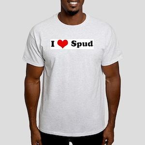 I Love Spud Ash Grey T-Shirt