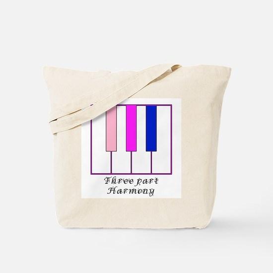 Three Part Harmony Tote Bag