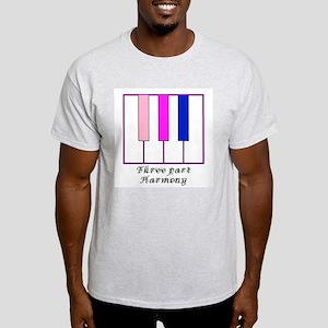 Three Part Harmony Ash Grey T-Shirt