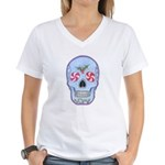 Christmas Skull Women's V-Neck T-Shirt